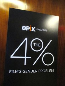 The 4%: Film's Gender Problem poster at the Museum of Arts and Design